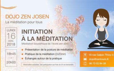 Initiation à la méditation du 16/04