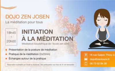 //ANNULÉ// Initiation à la méditation du 16 mars 2020