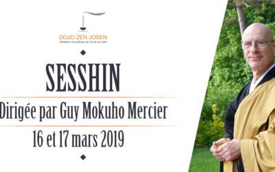 Sesshin dirigée par Guy Mokuhō Mercier